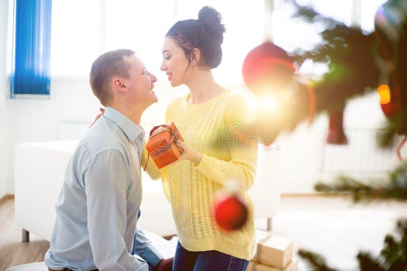 Couple celebrating christmas royalty free stock photography