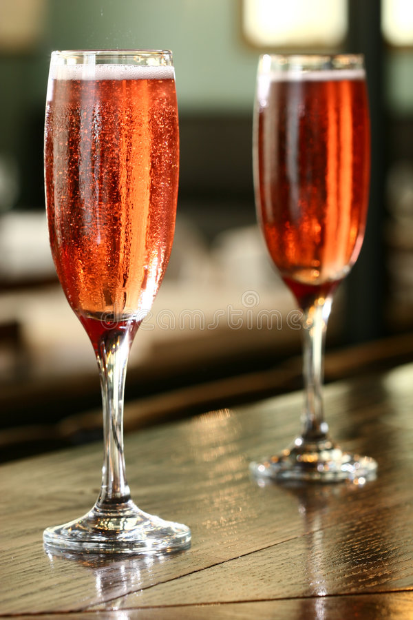 Couple of champagne royalty free stock photos