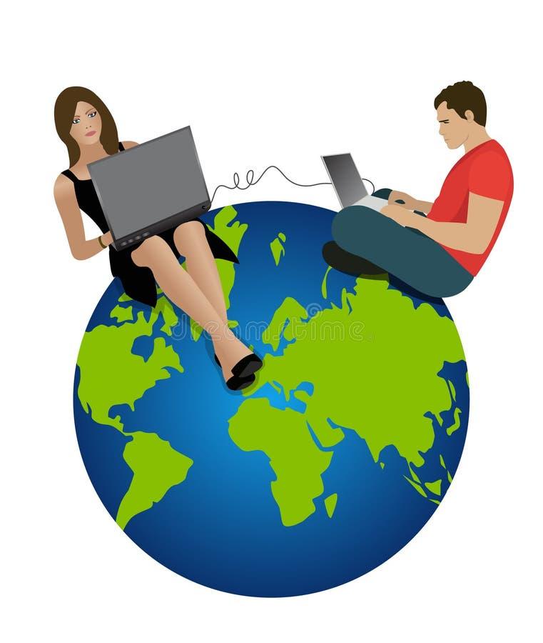 Couple chatting vector illustration