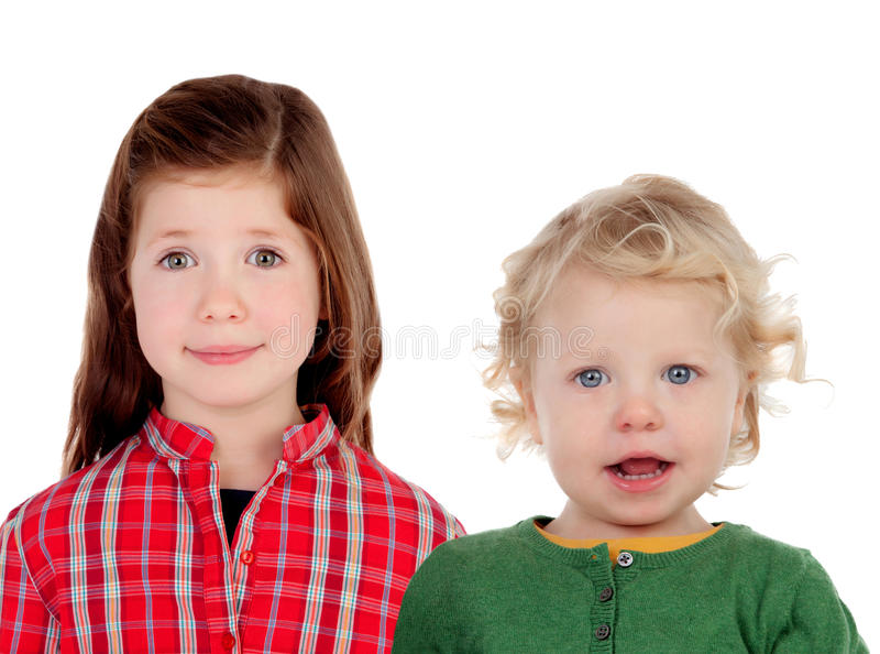 Couple of children. Brother and sister royalty free stock photo