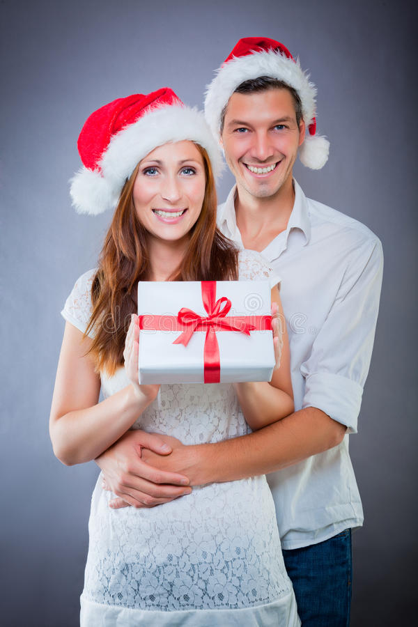 Couple christmas royalty free stock images