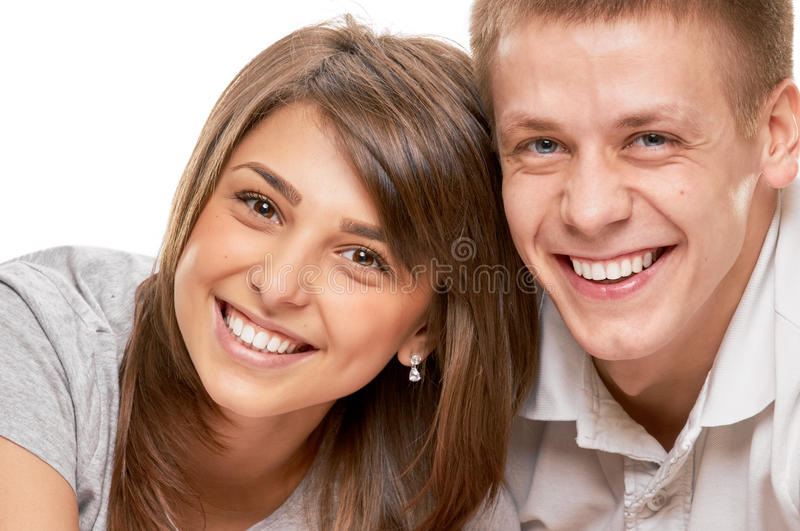 Couple close portrait stock photography