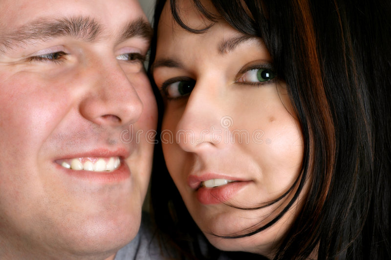 Couple - Close-up. Portrait of man and woman stock images