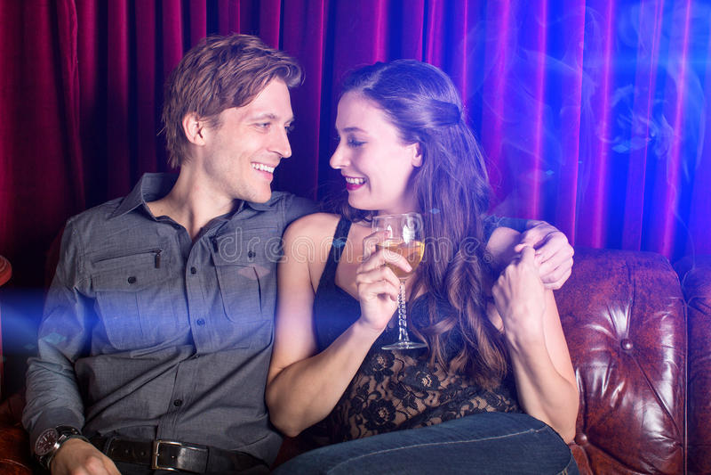 Couple at club stock photos