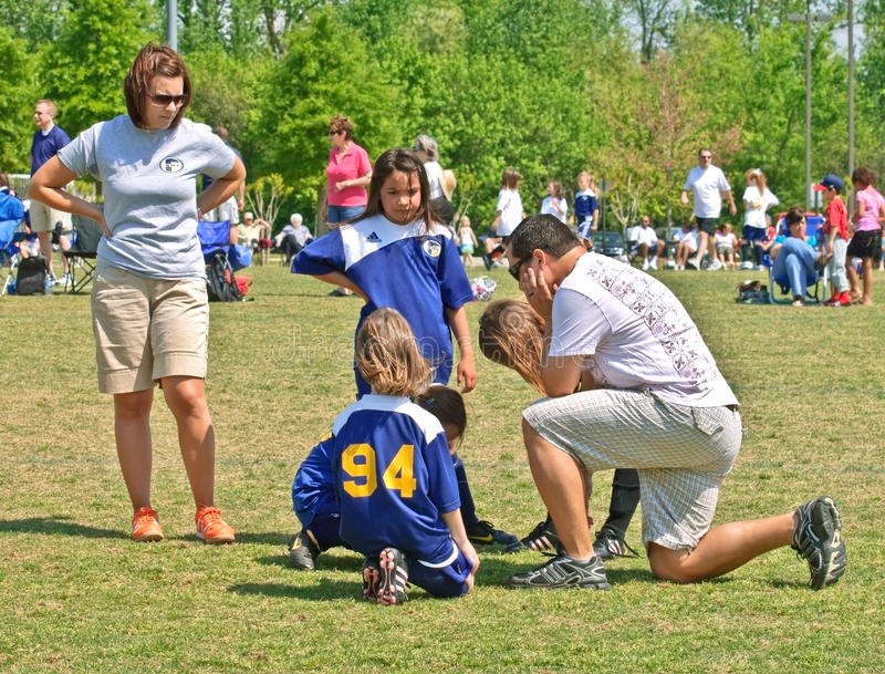 Download Couple Coaching Girls Soccer Editorial Photo - Image: 13948591