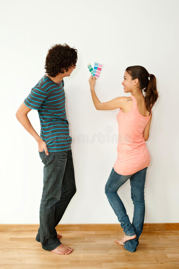 Couple With Colour Swatch Royalty Free Stock Image