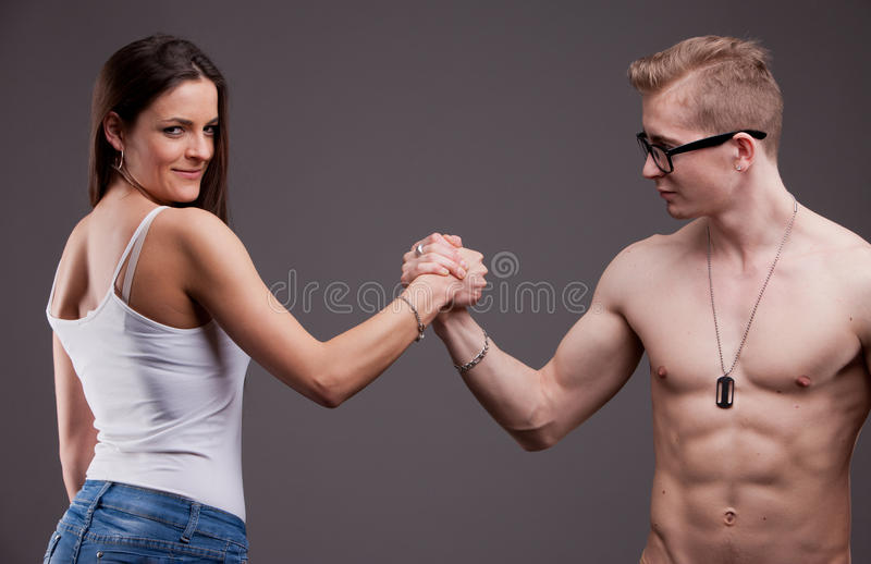 Couple in conflict stock images