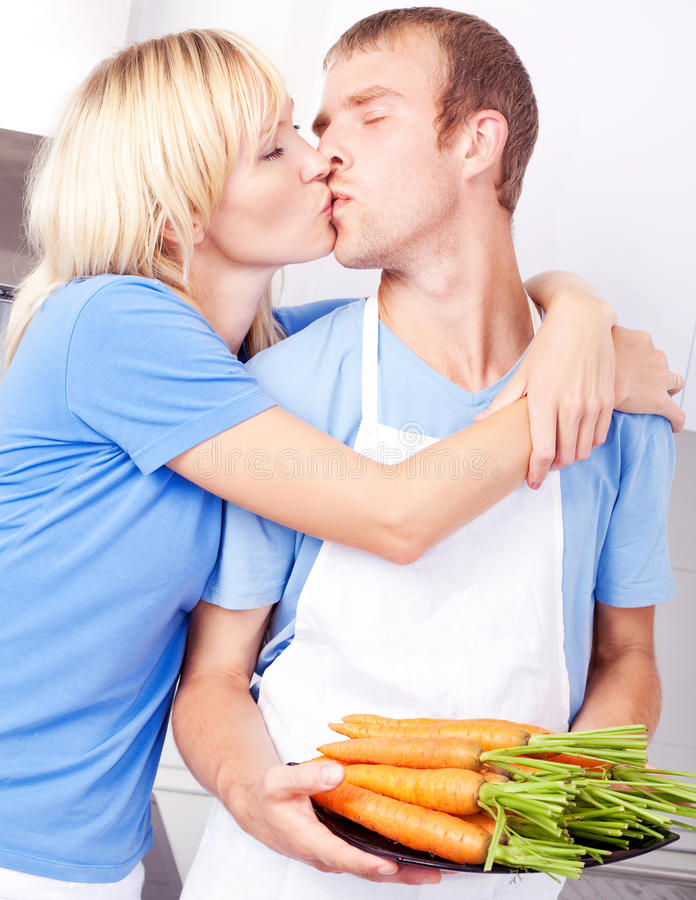 Download Couple cooking stock photo. Image of meal, house, health - 22330858