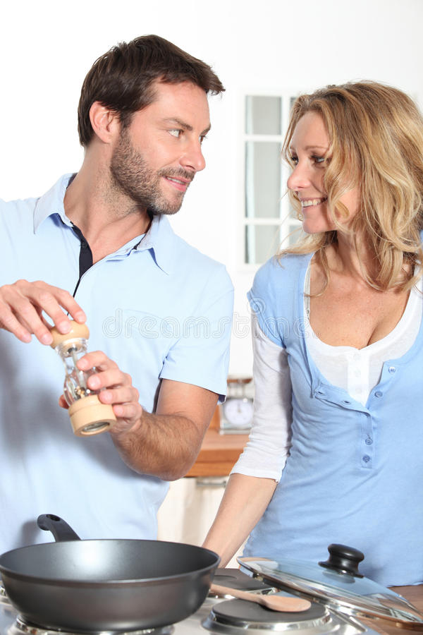 Download Couple Cooking Stock Photography - Image: 25343382