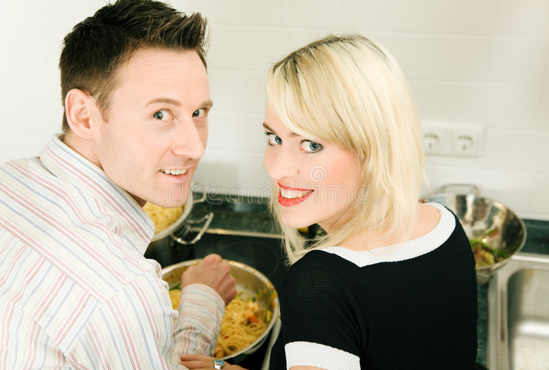 Download Couple cooking stock photo. Image of dish, happy, romance - 6543514