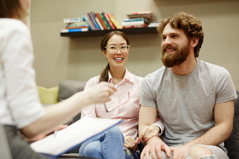 Couple in Counseling stock image