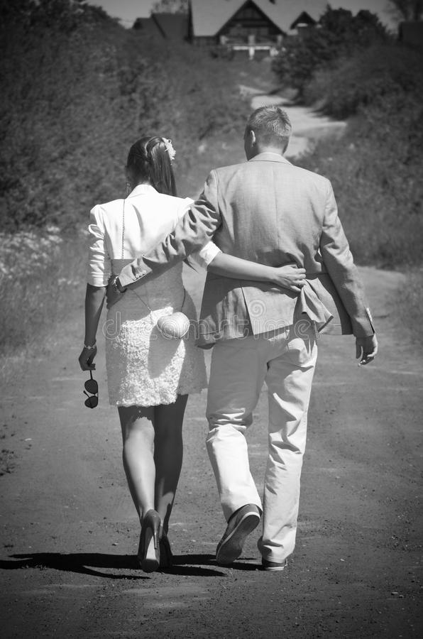 Couple in country royalty free stock photos