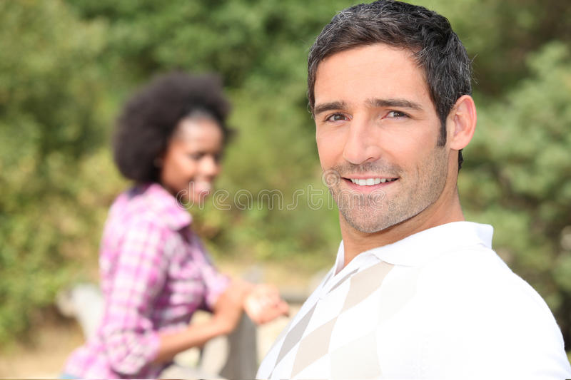Download Couple in the countryside stock photo. Image of spring - 26504184