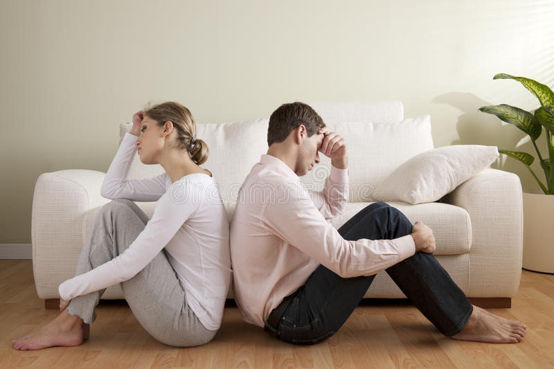 Couple crisis. Young couple with relationship difficulties