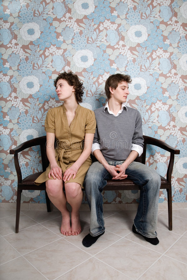 Couple crisis. Relationship difficulties: young couple having a fight