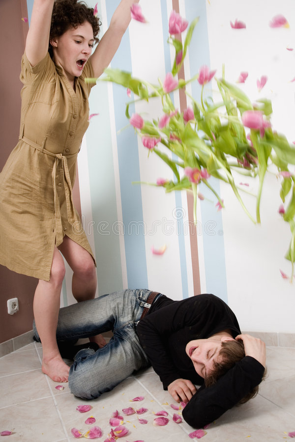 Couple crisis. Relationship difficulties: young couple having a fight royalty free stock photo
