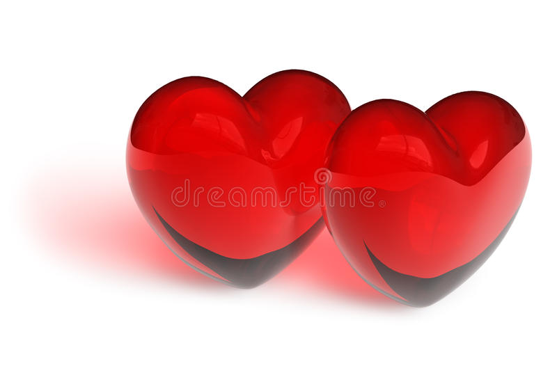 Download Couple Of Crystal Hearts Royalty Free Stock Photo - Image: 12973095