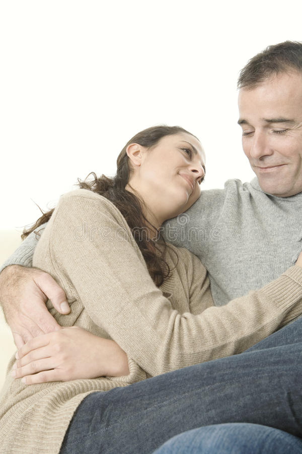 Download Couple Cuddling At Home Royalty Free Stock Photography - Image: 28831367