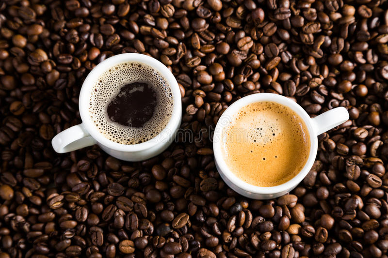 A couple of cups of coffee royalty free stock photo