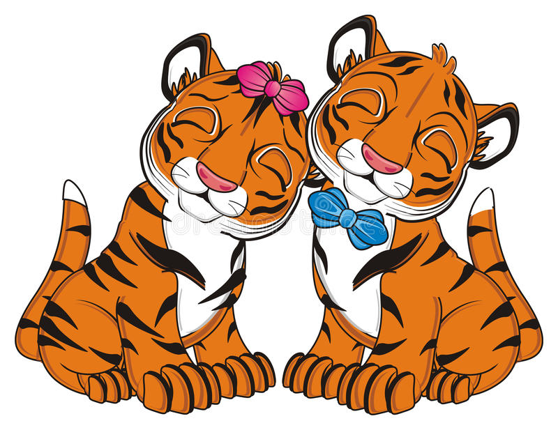 couple of cute tigers stock illustration illustration of growl rh dreamstime com Tiger Girl Drawings Tiger Girl Art Clip Art