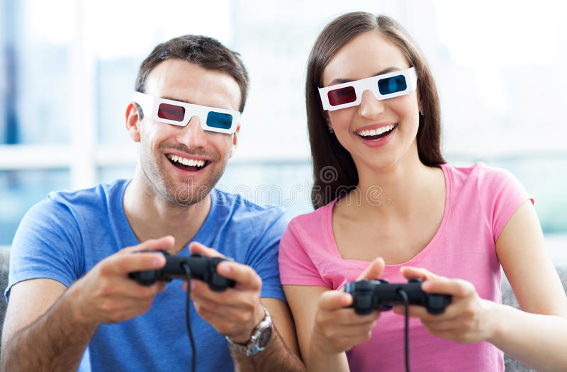 Download Couple in 3d glasses stock photo. Image of glasses, caucasian - 31606248