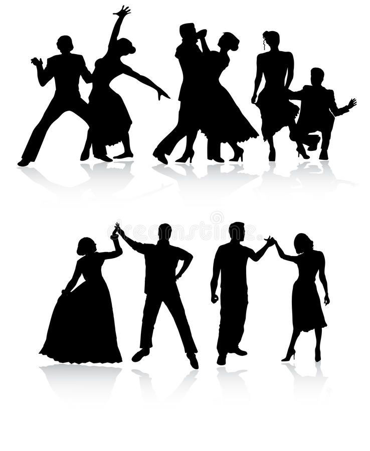 Couple Dancers Royalty Free Stock Photo
