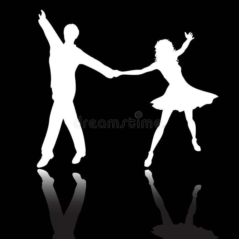 Couple dancing vector illustration