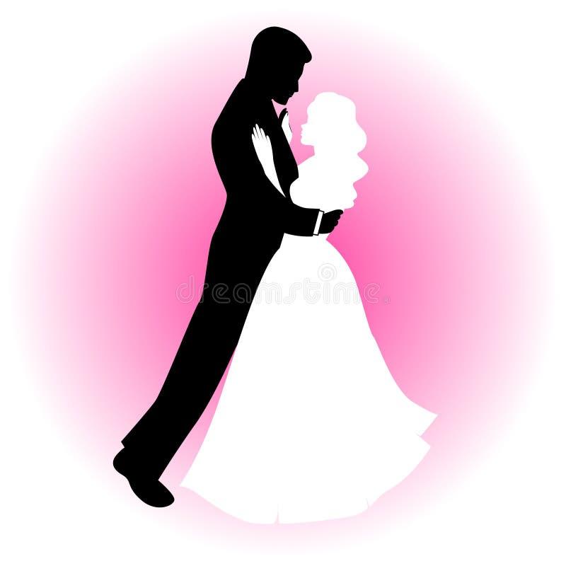 Couple dancing stock illustration