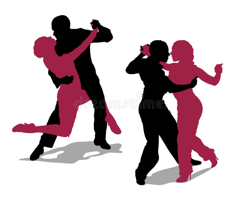 Couple dancing argentine tango royalty free stock photo