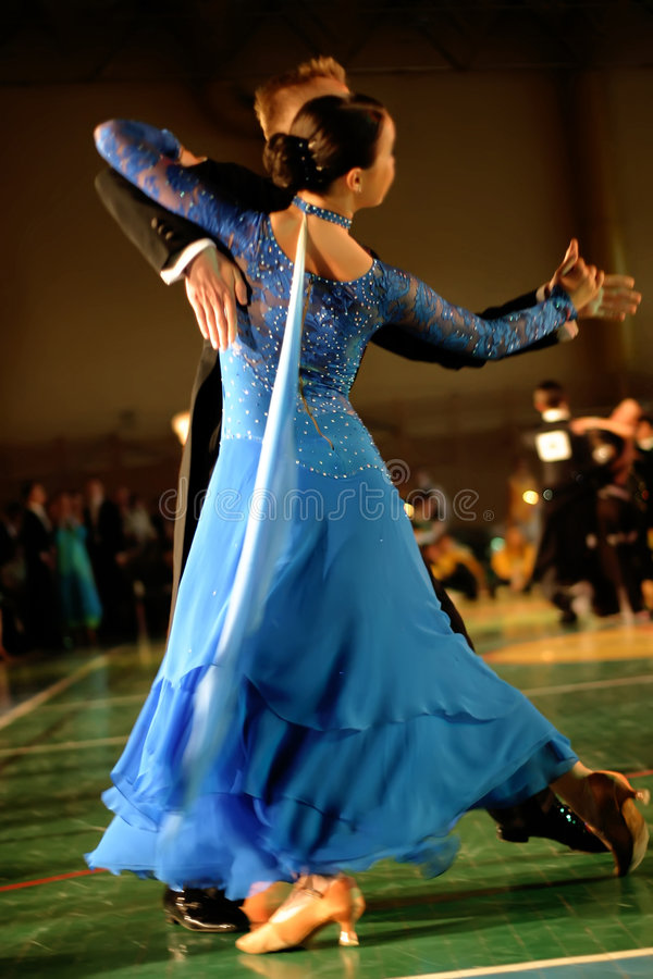 couple dancing on classic dance competition royalty free stock images