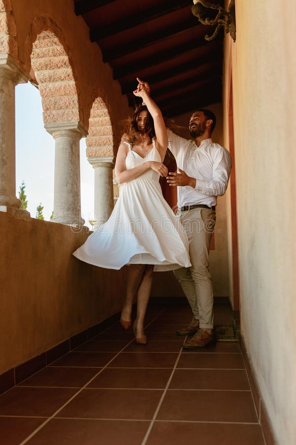 Couple dancing royalty free stock photography