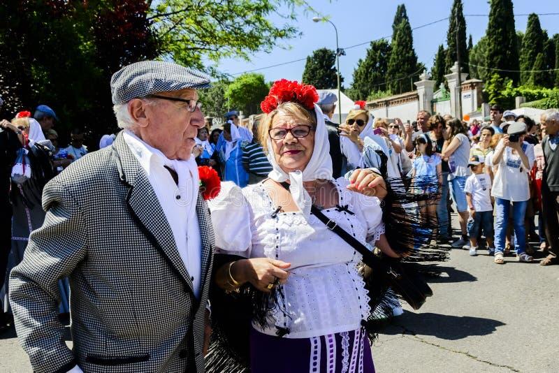 A couple dancing during religious festival stock photos