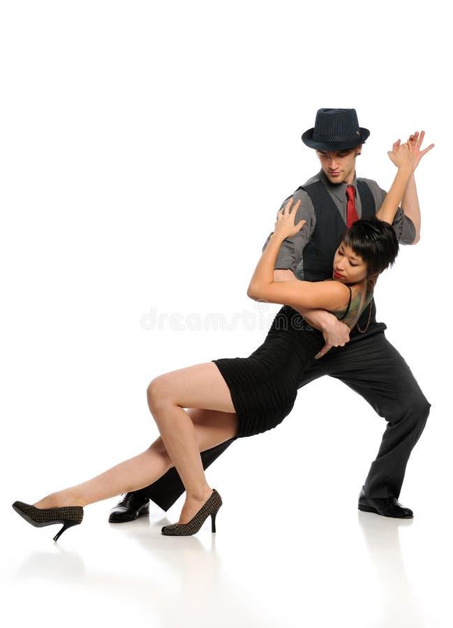 Couple dancing Tango stock photography