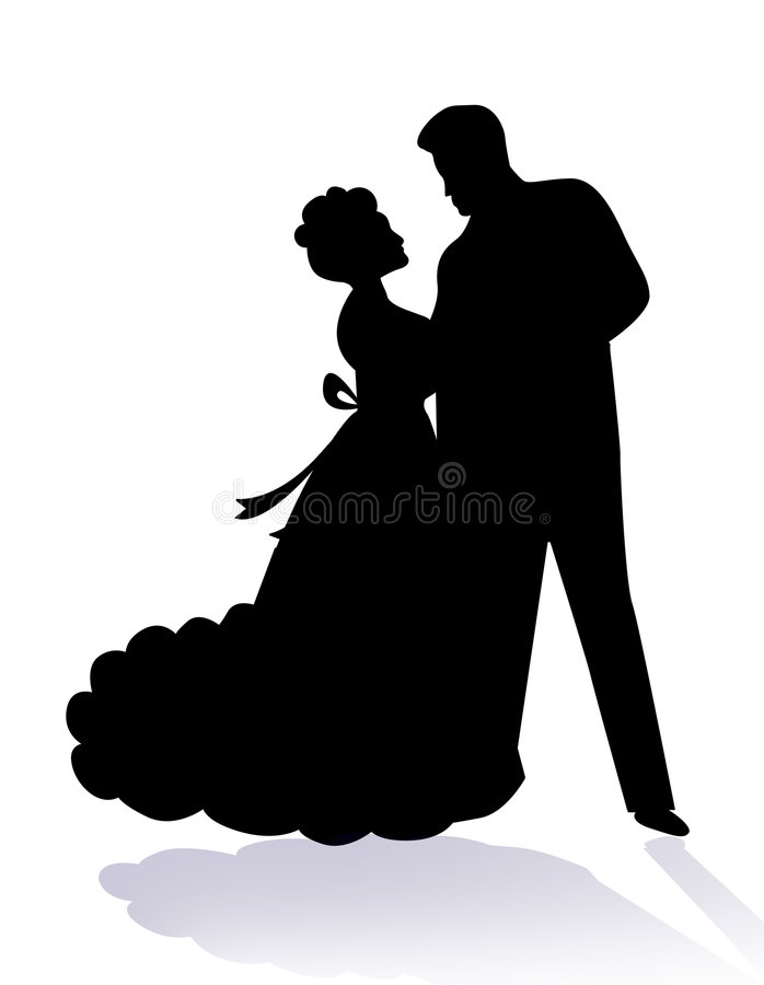 Couple dancing together / lovers stock illustration