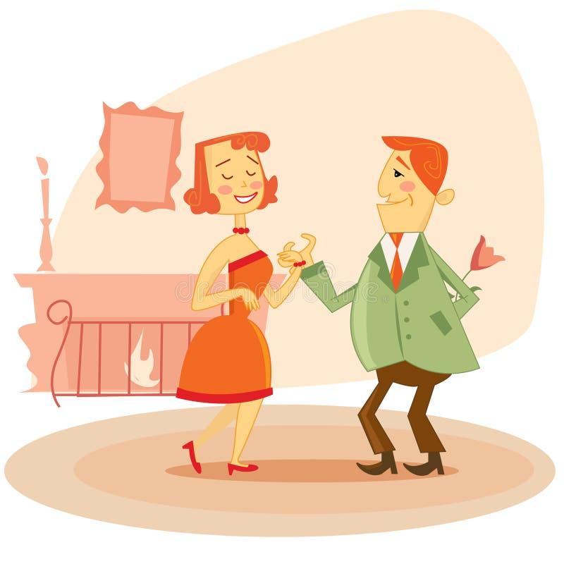 Couple dating vector illustration stock illustration