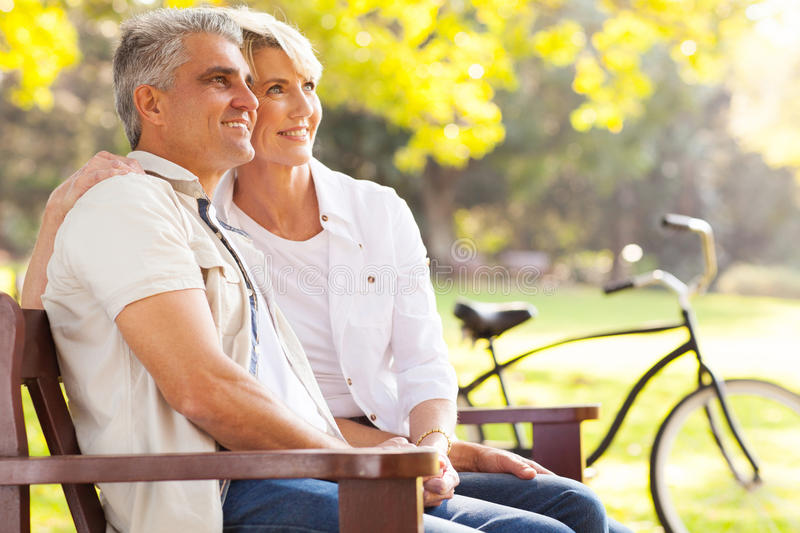 Couple daydreaming retirement stock images