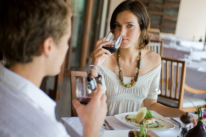 Download Couple Dining stock photo. Image of refined, sophisticated - 4560214