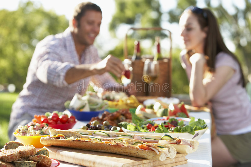 Download Couple Dining Al Fresco stock image. Image of sitting - 7870371