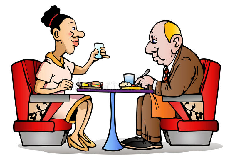 Couple dinner time stock image