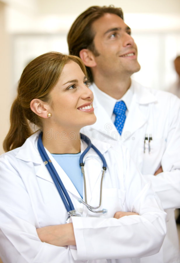 Download Couple of doctors stock image. Image of smile, couple - 7397561