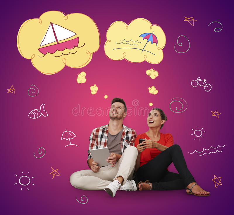 Couple with dream royalty free stock image
