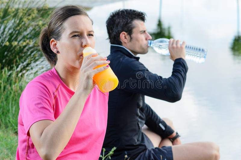 Download Couple Drinking stock image. Image of diet, interval - 25379589