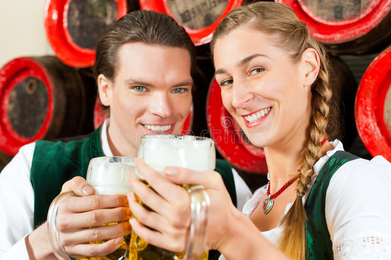 Download Couple Drinking Beer In Brewery Stock Photo - Image: 22772494