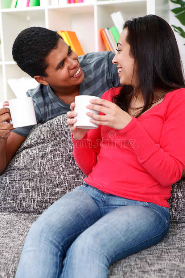 Download Couple drinking coffee stock image. Image of lifestyle - 26732005