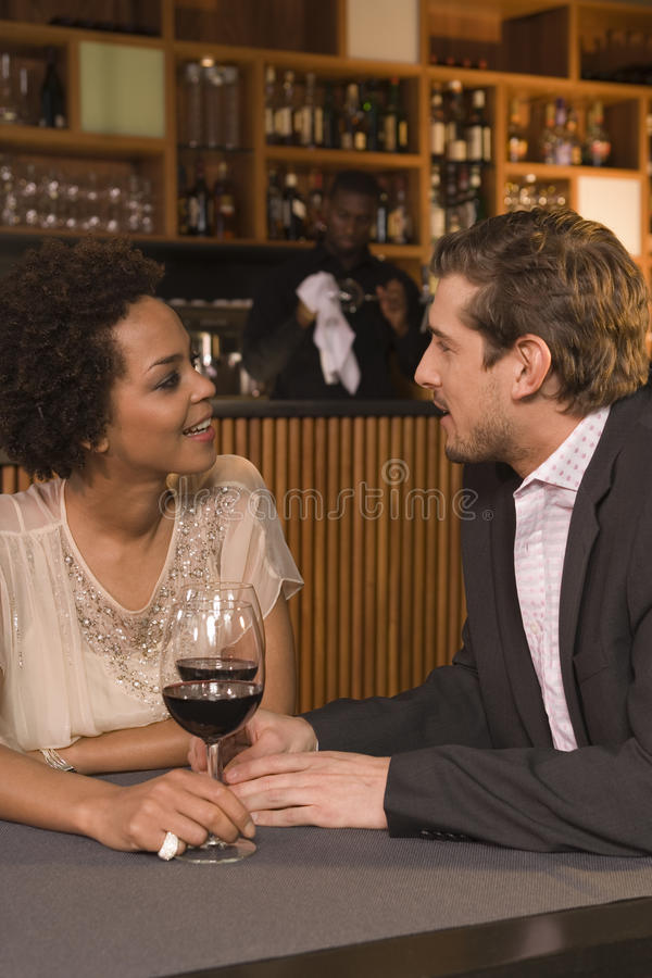 Couple drinking red wine. stock images