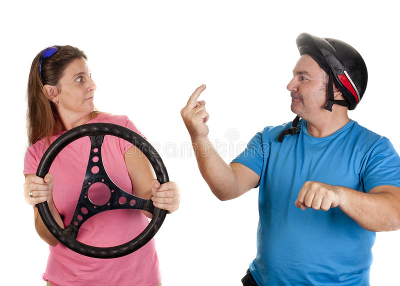 Couple drive stock images