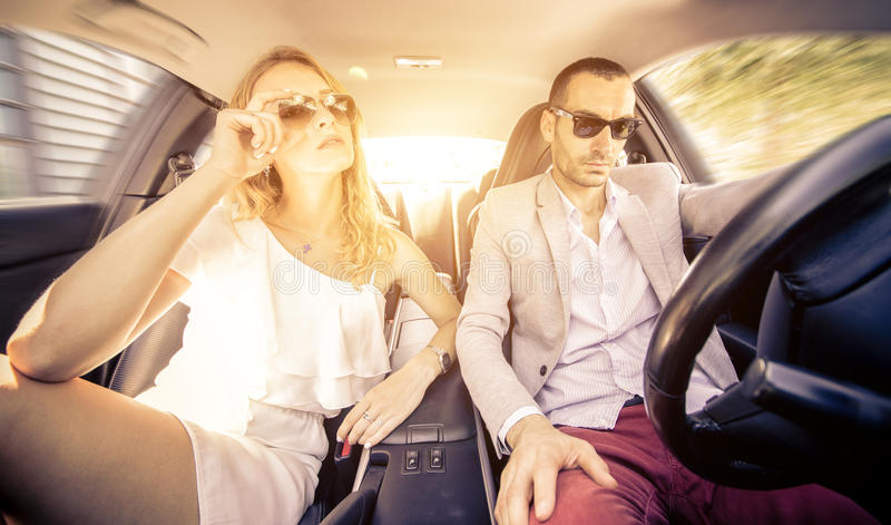 Couple Driving Fast On A Sport Car Stock Photo - Image Of Aggressive, Alpha 59323262-2346