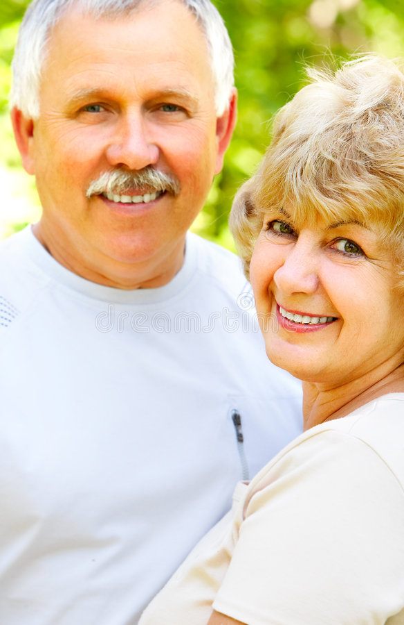 couple elderly happy στοκ φωτογραφίες