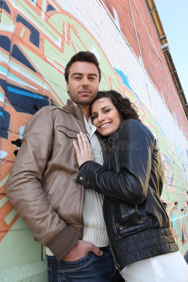 Download Couple embracing stock photo. Image of love, girl, cool - 24160912