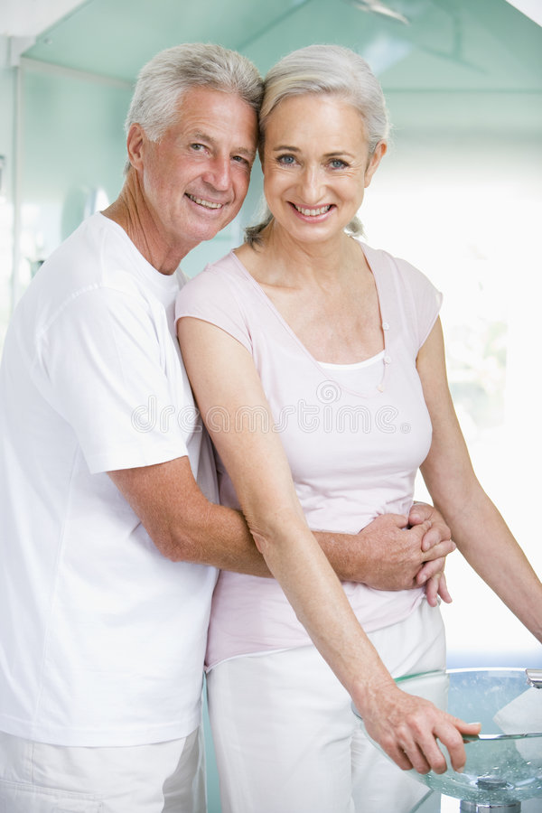 Download Couple Embracing At A Spa And Smiling Stock Photo - Image: 5542366